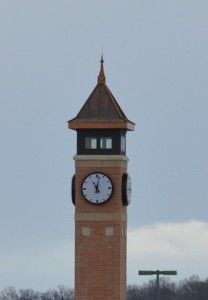 Set of four Tower Clocks for The Fountains clock tower in Cedar Rapids, Iowa