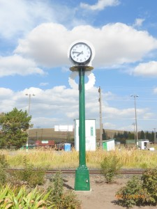 Scenic 6 - Another view of the Post Clock, custom clock, exterior clock