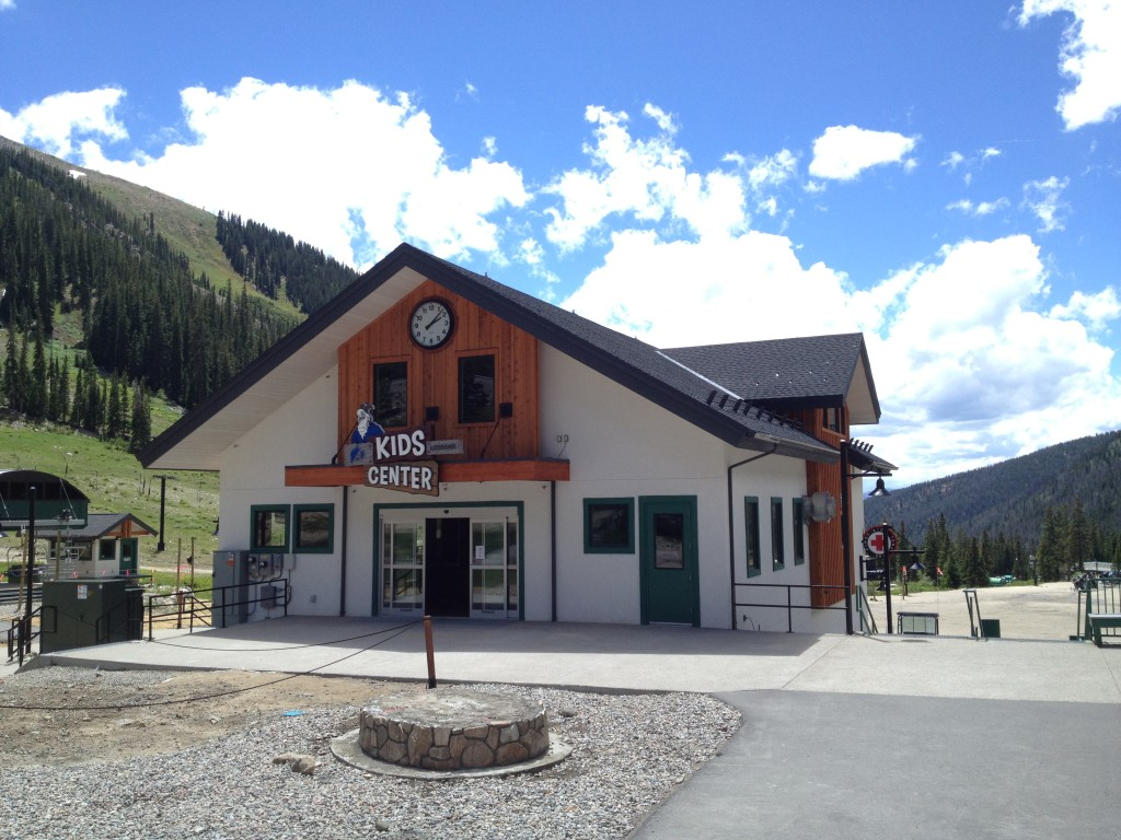 Lumichron 42-inch canister exterior custom clock at A-Basin Ski Area