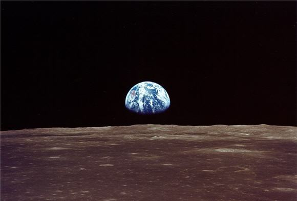 View of Earth from the Moon, Apollo 11 Mission, July 20, 1969
