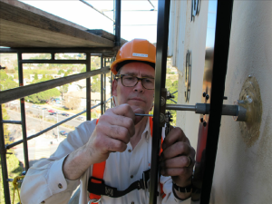 Lumichron provides personal attention from the owner himself - Ian Macartney at Tamalpais Clock Tower install 12-2013