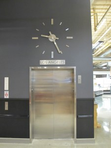 Mariano's, skeletal clocks, stainless steel