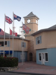 Outdoor Tower Clock - Elizabethan Square, Georgetown, Cayman Islands
