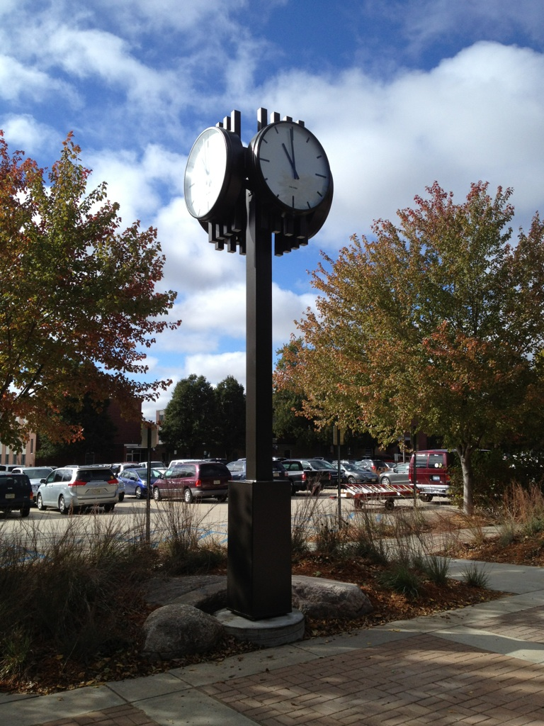Vernon H. Koehler Memorial Clock, Concordia University, installed 10-12-2016.