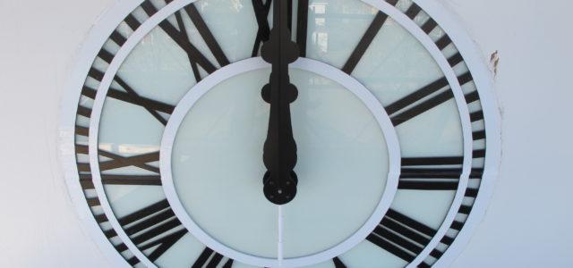 longwood, university, lancaster hall, clock restoration, clock replacement