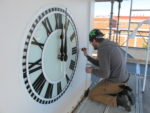 Clock dial, Clock Tower Renovation, Lancaster Hall, Longwood University