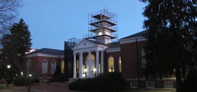 Lancaster Hall, Longwood University, Farmville, . renovations, historic, clock tower.