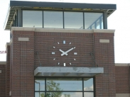Skeletal Clock; Tower Clock; Outdoor Clock; Dial: Modern Skeletal Type 1, Hands: Tapered Block