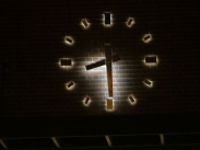 Illuminated Clock; Skeletal Clock